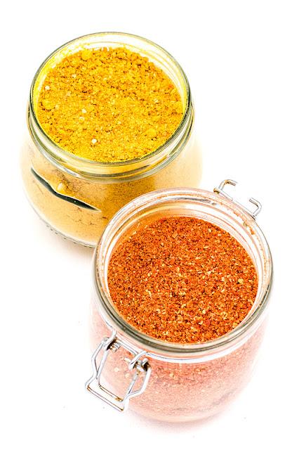 Chili powder close up