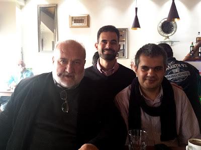 Ο Βαγγέλης Αυγουλάς και ο Παναγιώτης Μαρκοστάμος μαζί με το Δήμαρχο του Δήμου Λοκρών Νίκο Λιόλιο