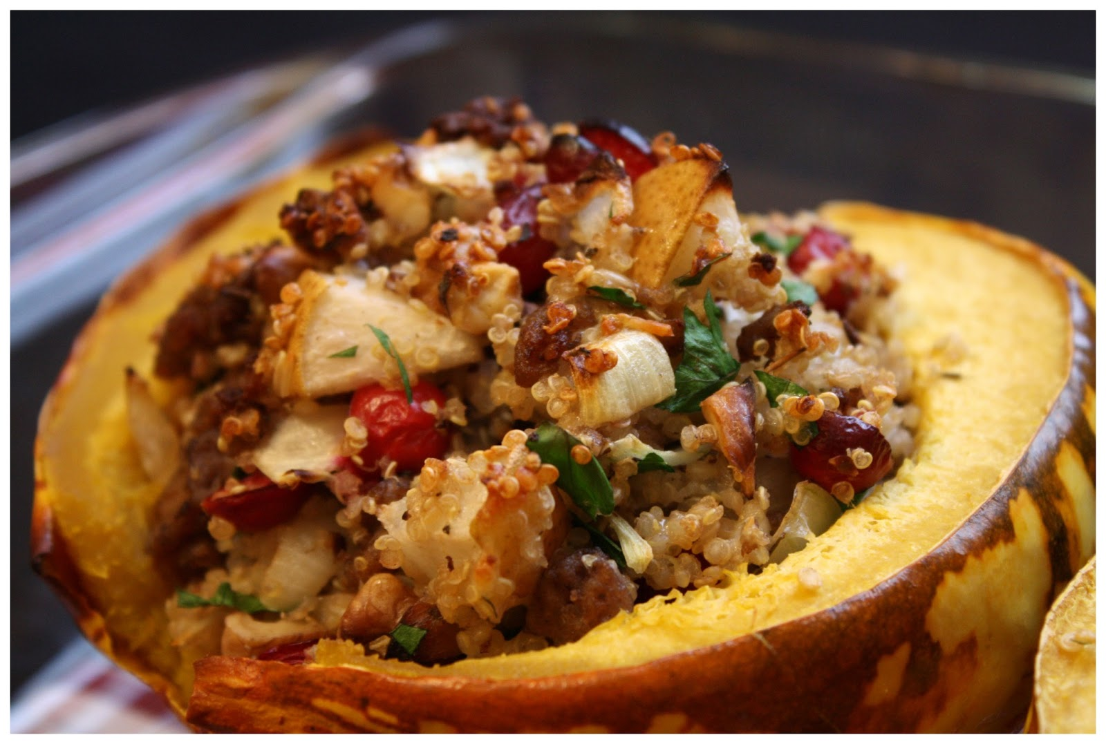 This and That: Quinoa-Stuffed Carnival Squash with ...