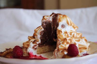 Receta Baked Alaska con helado de chocolate