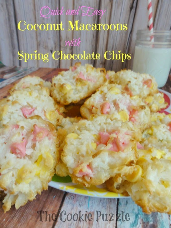 Quick and Easy Coconut Macaroons for Spring | The Cookie Puzzle