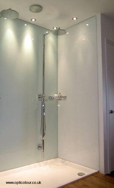 pared de vidrio en bao abierto