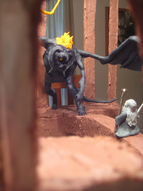 Lord of the Rings Cake - Gandalf Fighting the Balrog - View through Doorway
