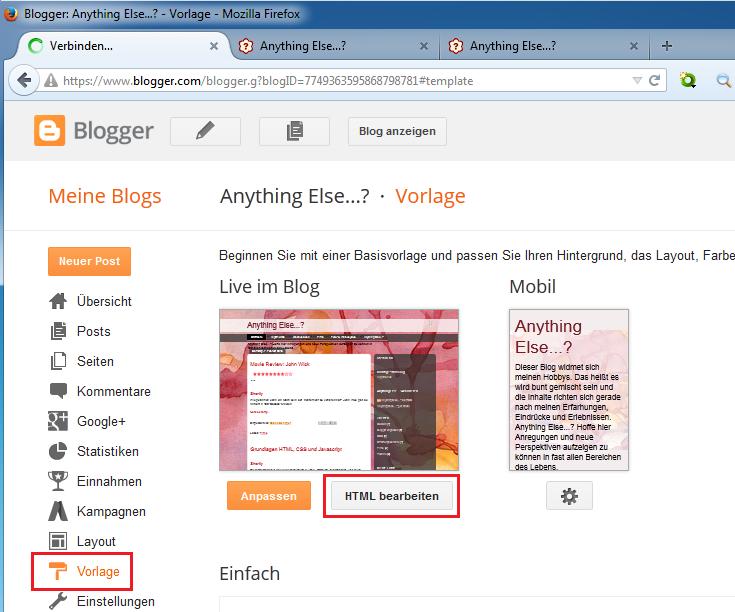 HTML Bearbeiten
