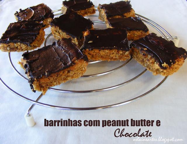 Barrinhas com Peanut Butter e Chocolate