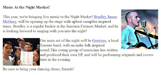 Music at the Junction Night Market 2015: screenshot