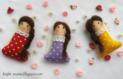 подвески девочки-ангелы из фетра
