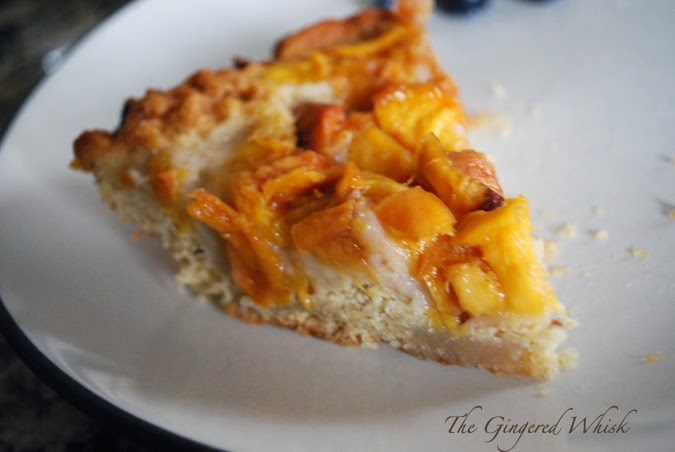 Simple Summer Peach Cake - The Gingered Whisk