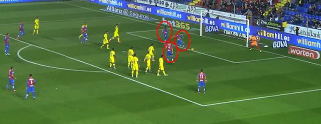 1-0 gol Morales tras lanzar falta
