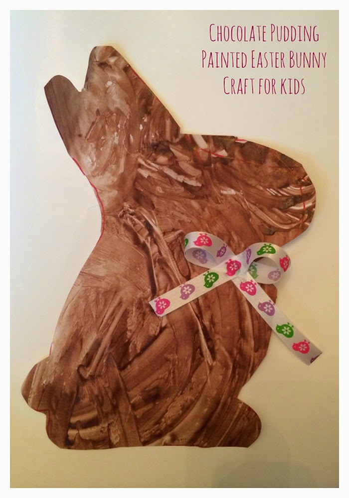 Chocolate Pudding Painted Bunny || The Chirping Moms