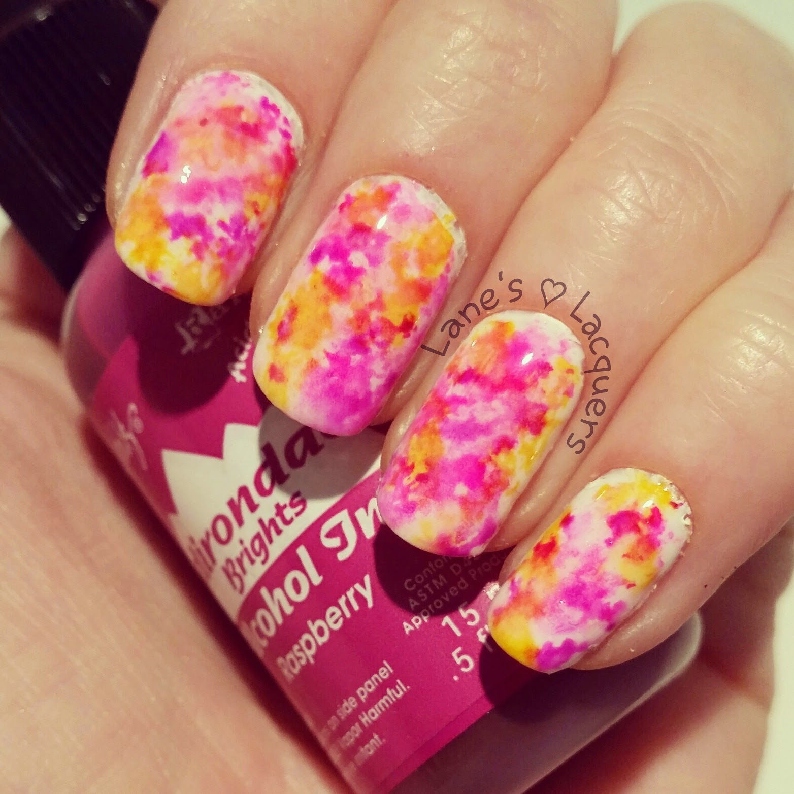 alcohol-ink-pink-purple-yellow-nail-art (2)