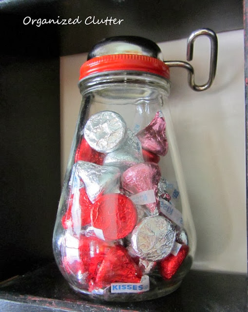 Valentine's Day Kisses in a Nut Grinder www.organizedclutterqueen.blogspot.com