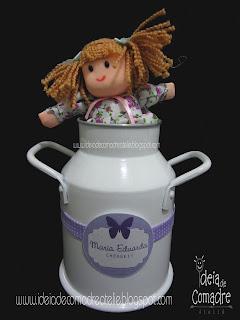 leiteira para festa fazendinha