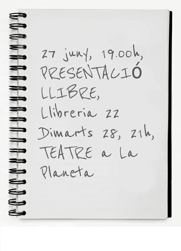 Presentació llibre i teatre