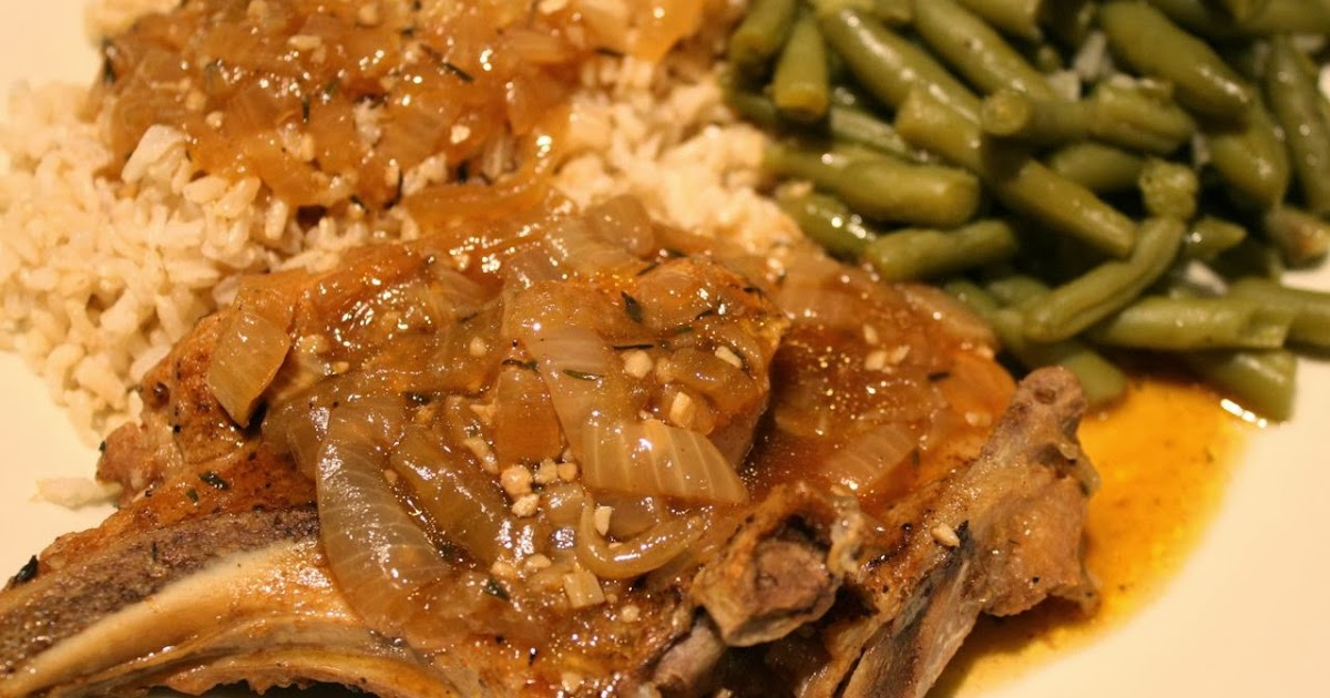 the roediger house meal no 827 smothered pork chops