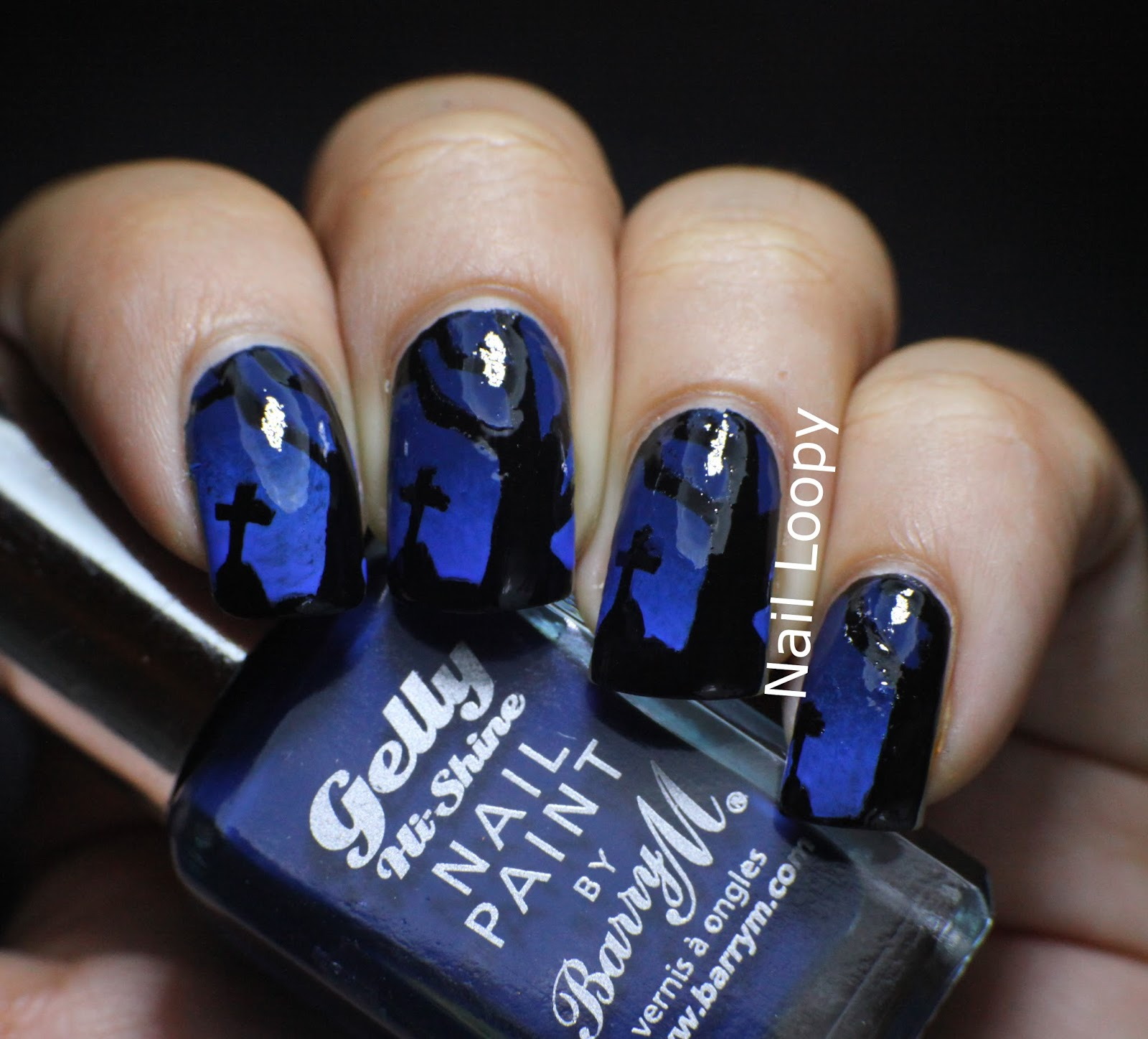 nail loopy: SPOOKY BARRY M GRAVEYARD HALLOWEEN NAILS USING SHE SELLS ...