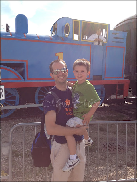 Father and Son on A Day Out With Thomas