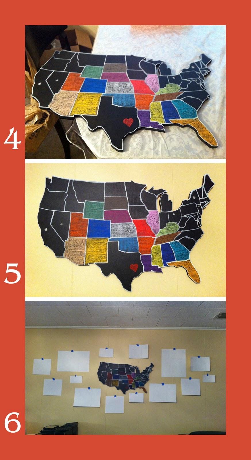scraps of life us map wall art. Black Bedroom Furniture Sets. Home Design Ideas