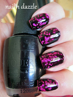 opi-Black-spotted-polish-pink