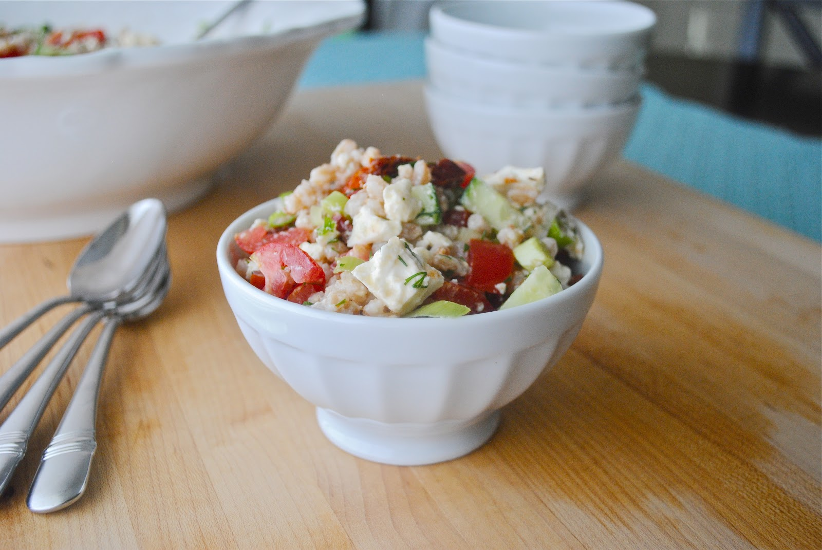 Farro with Feta, Tomatoes, and Cucumbers - The Chronicles ...
