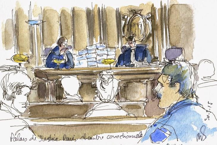 Urban sketchers paris le palais des d lits for Chambre correctionnelle paris