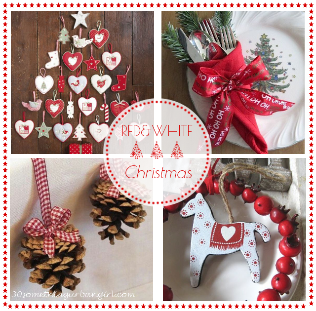Red and white christmas decorations 30 something urban girl tuesday