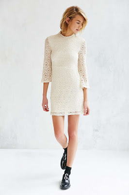 cooperative lace mock neck dress from Urban Outfitters