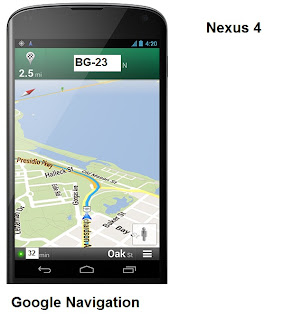 Google Maps GPS Nexus 4
