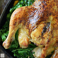 Whole Roasted Chicken with Vegetables   by Life Tastes Good