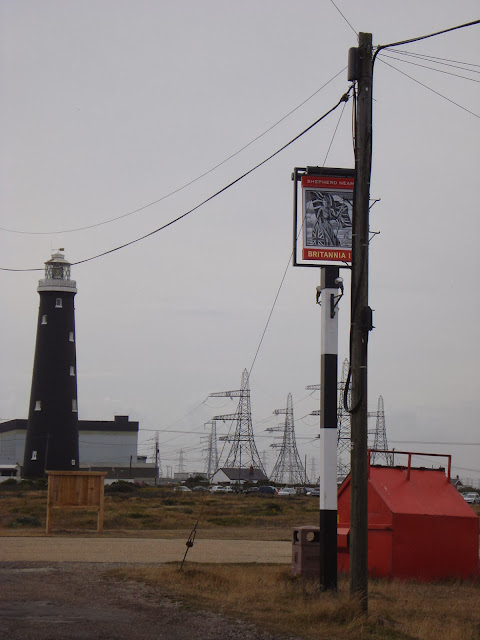 The lighthouse, the power station, the pub sign and the pylons