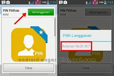 Cara Langganan Custom PIN BBM Android
