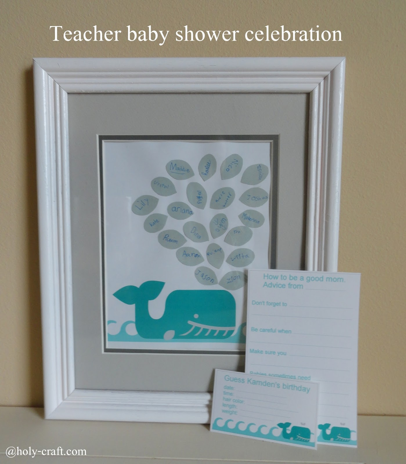 Teacher classroom baby shower celebration Rachel Teodoro