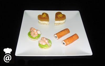 Menú San Valentín: Canapés