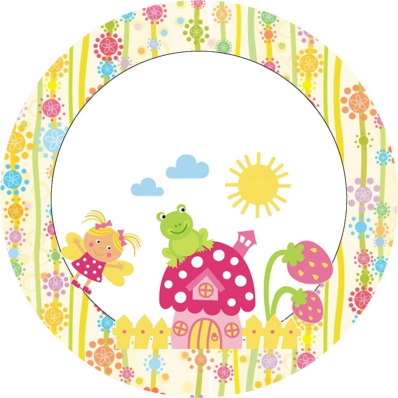 imagens de jardim encantado para convites:Jardim Encantado Fadinha – Kit Completo com molduras para convites