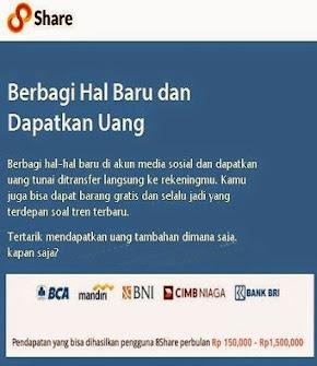 Share Informasi Di Bayar Rp 250,-/Share