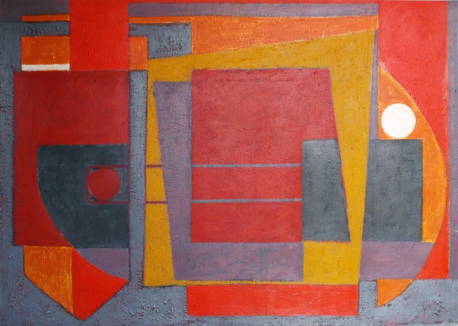 Pintura geometrica. Cuadro abstracto. Acrílico sobre cartulina. ImaPerezAlbert