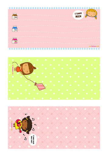 Free Printable: Pigtails Paper Notes and Envelopes | Free ...