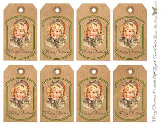 gift tags printable sheet christmas