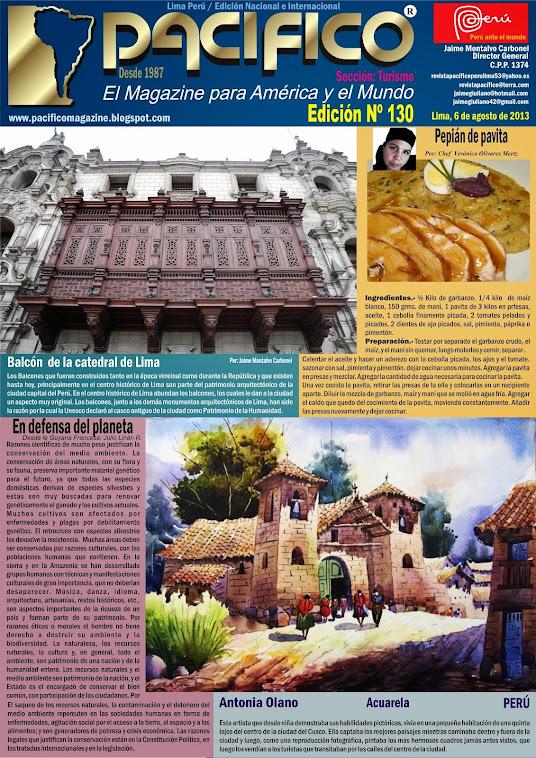 Revista Pacífico Nº 130 Turismo