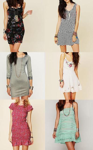 6 vestidos cortos de free people