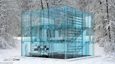 """البيت الزجاجي """" مكان للأختباء"""