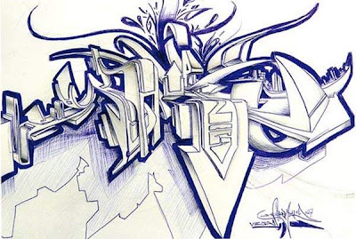 Graffiti Wildstyle Alphabets Sketches 3