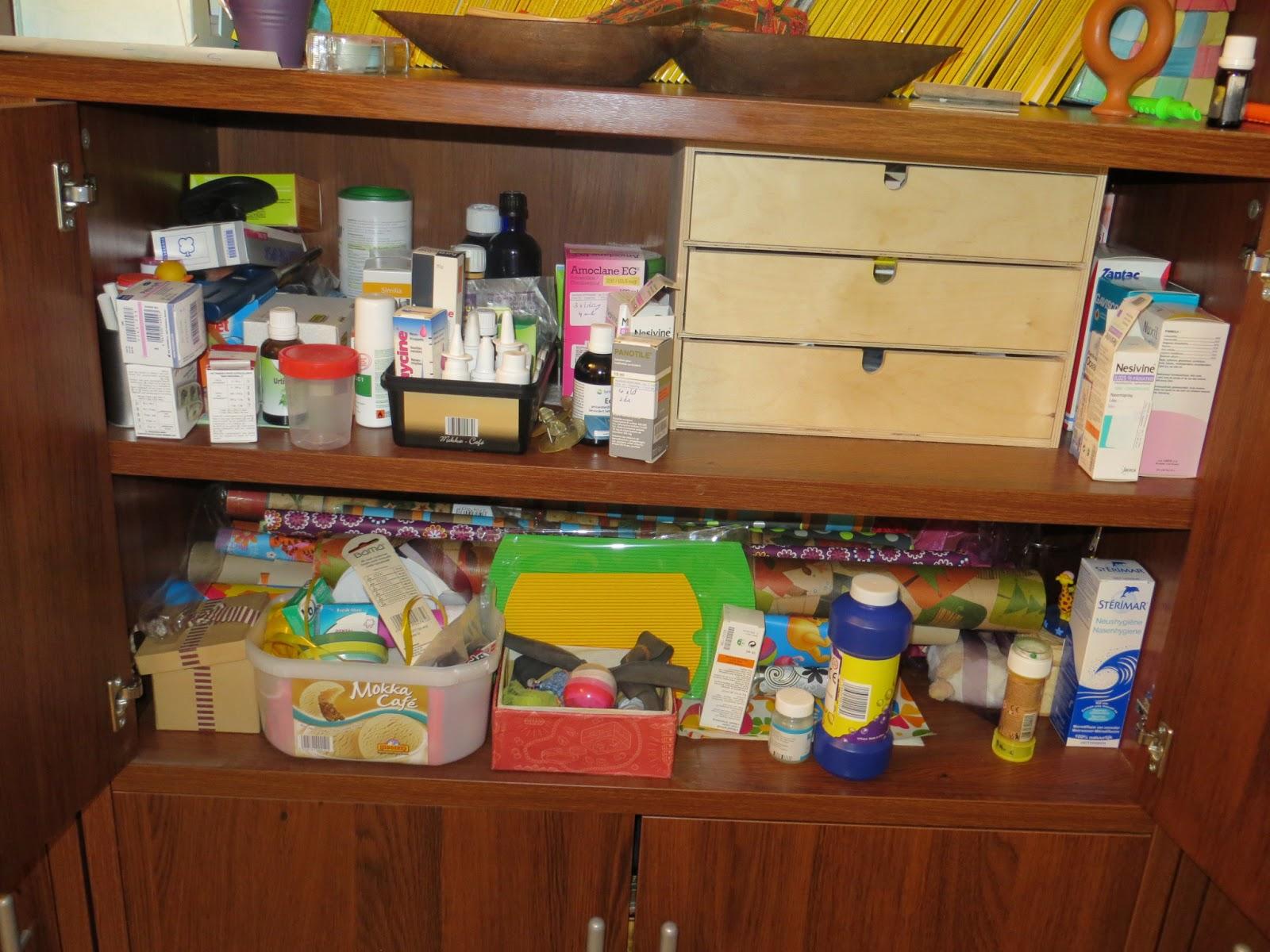 Huisje opruimen, stap voor stap  dag 22  medicijnen , eerste hulp en badkamerkastje