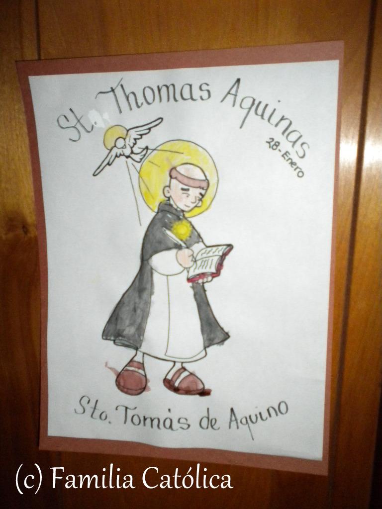 Familia Católica: Página para colorear de Santo Thomás Aquino - 28 ...