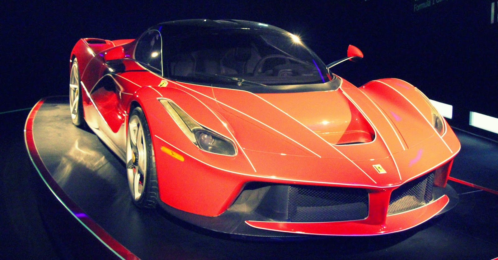 La Ferrari at the Ferrari Museum, Maranello, Italy