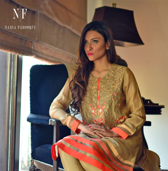 Nadia Farooqui formal wear dress