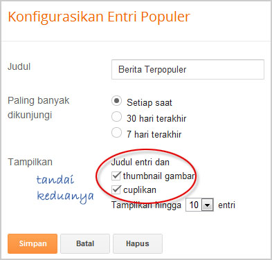 cara memotong snippet popular post di blogger