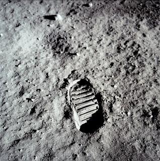 Foto Original De La Pisada De El Primer Hombre En La Luna