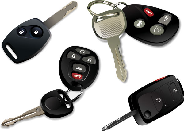 araba elektronik anahtarlar - vektör
