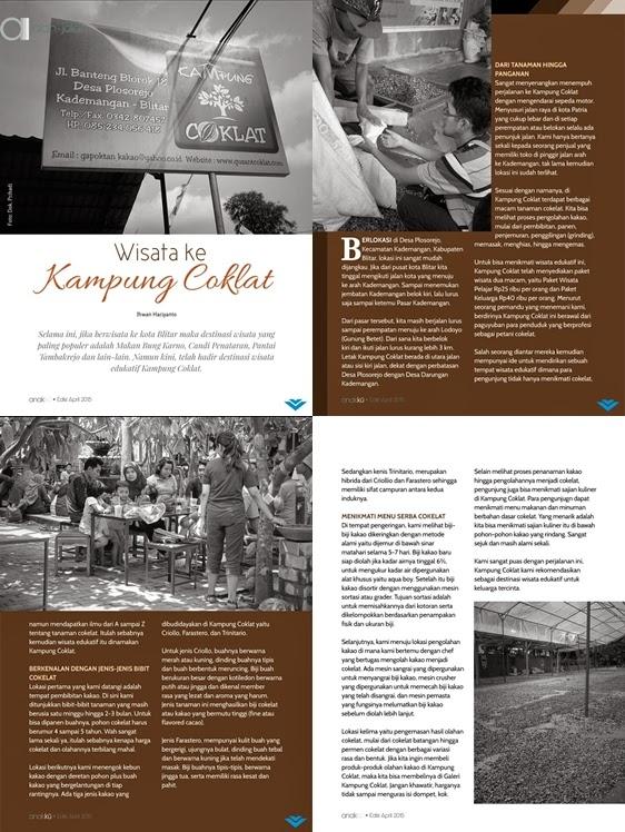Wisata ke Kampung Coklat Majalah Anakku Edisi April 2015